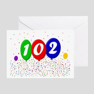 102nd Birthday Greeting Card
