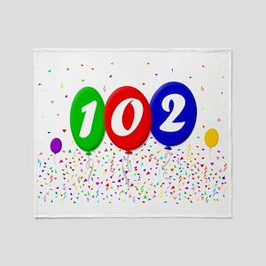 102nd Birthday Throw Blanket