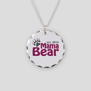 Mama Bear New Mom 2014 Necklace Circle Charm