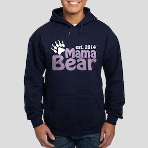 Mama Bear New Mom 2014 Hoodie (dark)