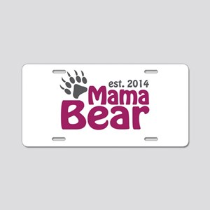 Mama Bear New Mom 2014 Aluminum License Plate