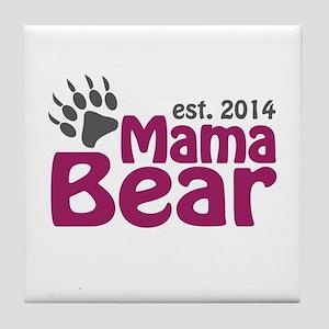 Mama Bear New Mom 2014 Tile Coaster