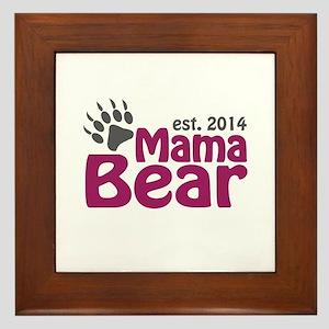 Mama Bear New Mom 2014 Framed Tile