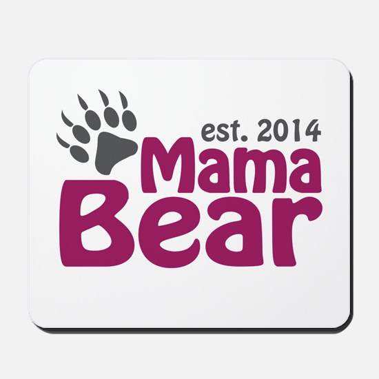 Mama Bear New Mom 2014 Mousepad