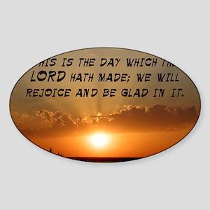 Psalm 118:24 Sticker (Oval)