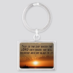 Psalm 118:24 Landscape Keychain
