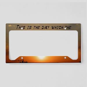 Psalm 118:24 License Plate Holder