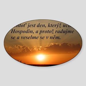 Psalm 118:24 Czech Sticker (Oval)