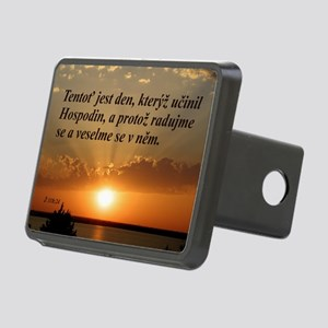 Psalm 118:24 Czech Rectangular Hitch Cover