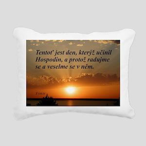 Psalm 118:24 Czech Rectangular Canvas Pillow