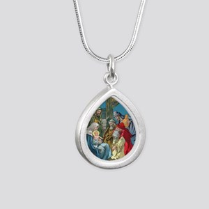 Wise Men Visit Silver Teardrop Necklace