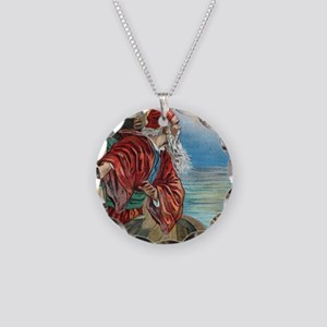 Vintage Noah Rainbow Necklace Circle Charm