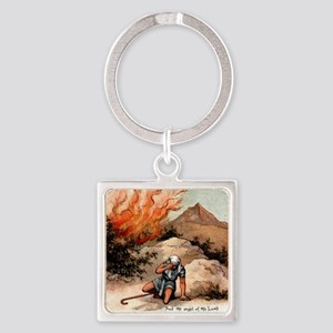burningbush Square Keychain