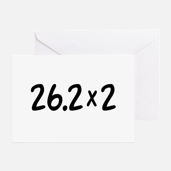 26.2 x 2 Marathon Greeting Card