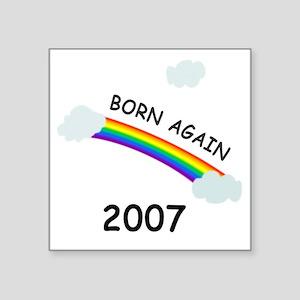 """bornagain2007 Square Sticker 3"""" x 3"""""""