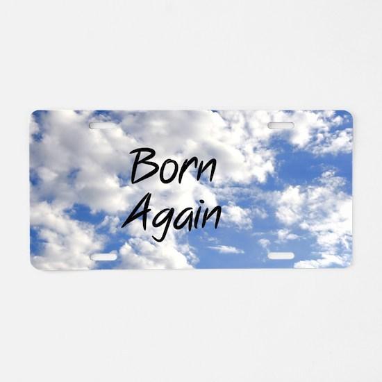 Born Again Aluminum License Plate