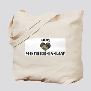 Mother In Law: Camo Heart Tote Bag