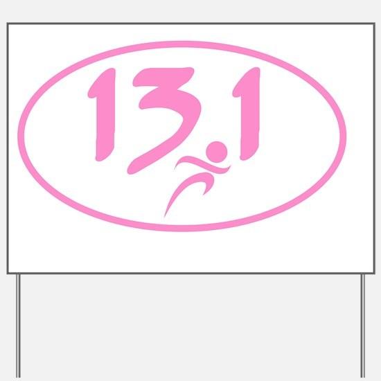 Pink 13.1 marathon Yard Sign