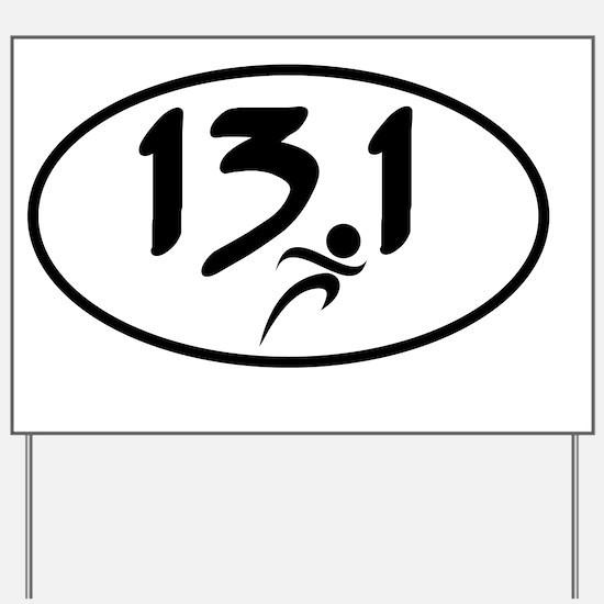 13.1 half-marathon Yard Sign
