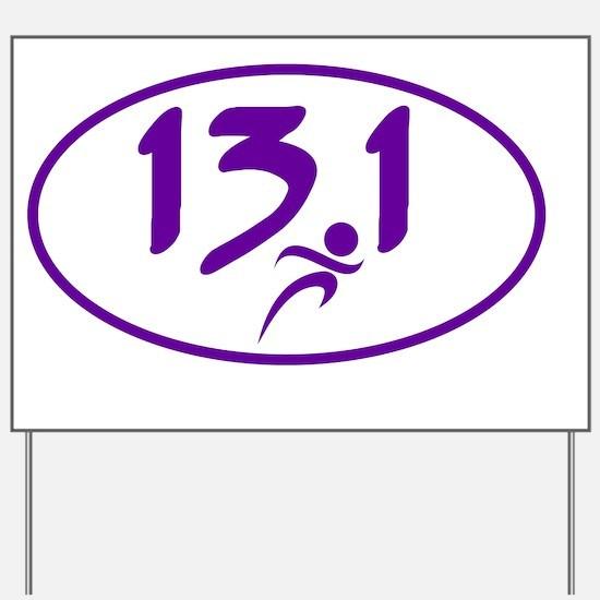 Purple 13.1 half-marathon Yard Sign