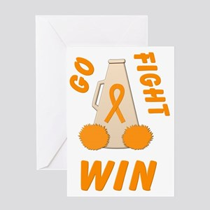 Orange GO FIGHT WIN Greeting Card