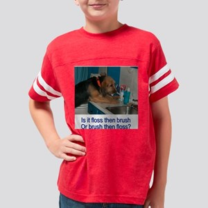 otter brush Youth Football Shirt