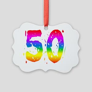 Confetti Rainbow 50 Picture Ornament