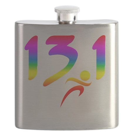 Rainbow 13.1 half-marathon Flask