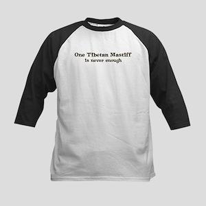 One Tibetan Mastiff Kids Baseball Jersey