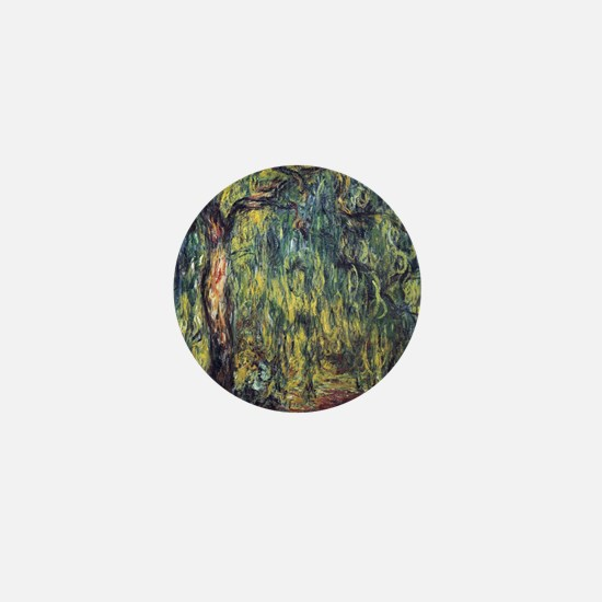 Weeping Willow by Claude Monet Mini Button