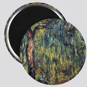 Weeping Willow by Claude Monet Magnet