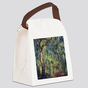 Weeping Willow by Claude Monet Canvas Lunch Bag
