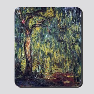 Weeping Willow by Claude Monet Mousepad