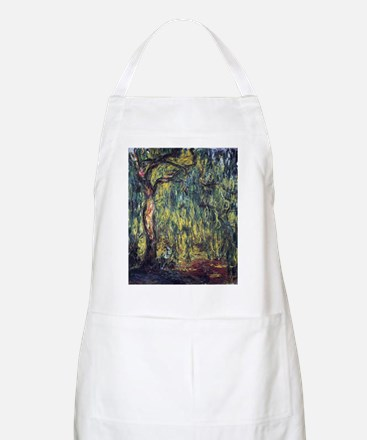 Weeping Willow by Claude Monet Apron