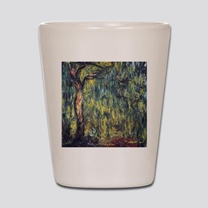 Weeping Willow by Claude Monet Shot Glass