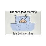 Bed Morning Rectangle Magnet (10 pack)
