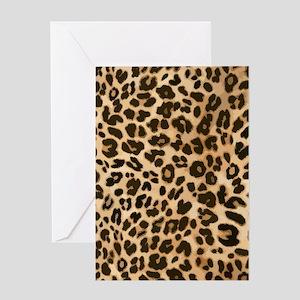 Leopard Wild Cat Print Greeting Card