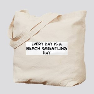 Beach Wrestling day Tote Bag