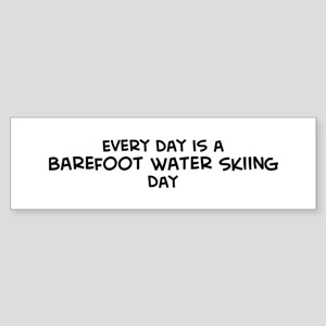 Barefoot Water Skiing day Bumper Sticker