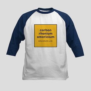 cream chem kids baseball jersey t-shirt