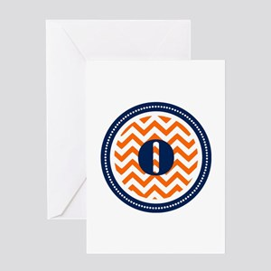 Orange & Navy Greeting Card
