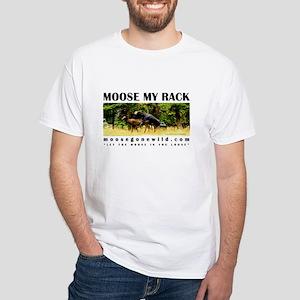 Moosegonewild.com White T-Shirt