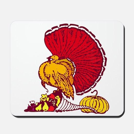 Thanksgiving Turkey Cornucopia Mousepad