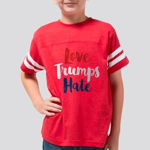 Love Trumps Hate Youth Football Shirt