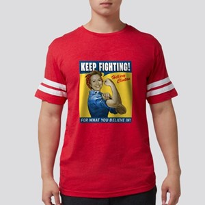Hillary Clinton Keep Fighting Mens Football Shirt