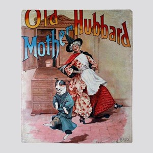 Old Mother Hubbard Throw Blanket