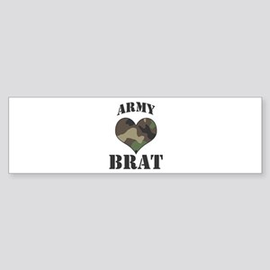 Brat: Camo Heart Bumper Sticker