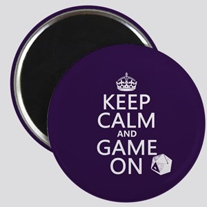 Keep Calm and Game On Magnet