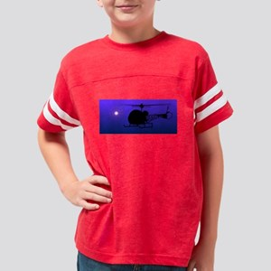 bell47helicoptersunblue Youth Football Shirt