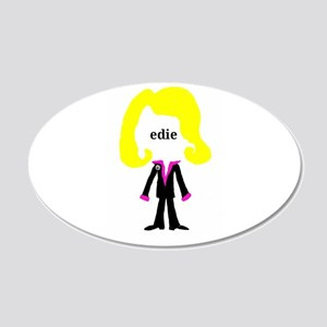 Edie with Pin Wall Decal